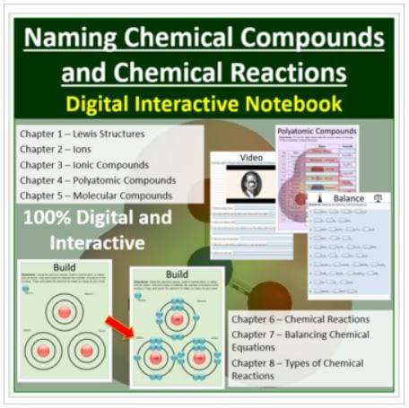 Naming Chemical Compounds and Chemical Reactions Digital Notebook
