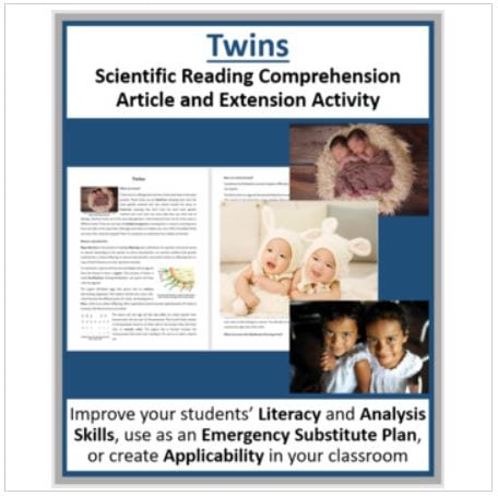 Twins - Reading Article - Grade 8 and Up
