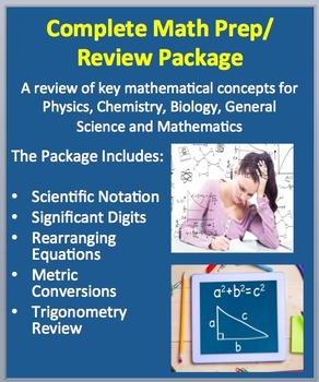 Math Skills Review for High School Science